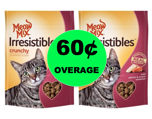 Get Back Even More! FREE Meow Mix Cat Treats + $.60 Overage at Walmart! ~ Right Now!