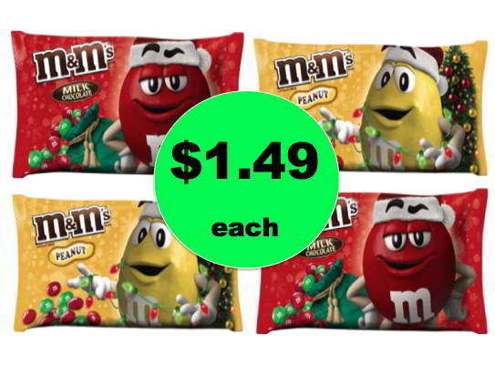 Fill Up the Candy Dish with M&Ms Bagged Candy Only $1.49 Each at Walgreens! Ends Saturday!