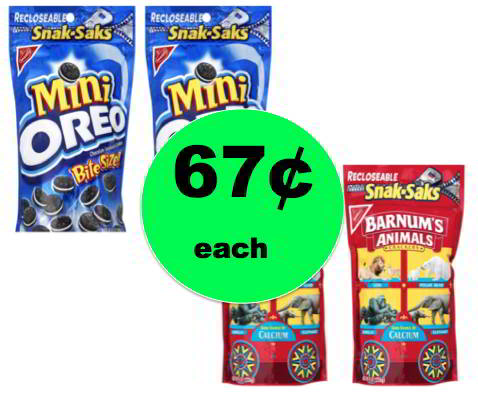 (NLA) The Perfect Travel Snack! Get 67¢ Nabisco Snak-Saks at Target! Ends Saturday!