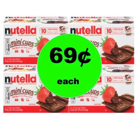 Even Cheaper! Don't Miss Out on 69¢ Nutella Mini Cups at Target! (Ends 12/30)