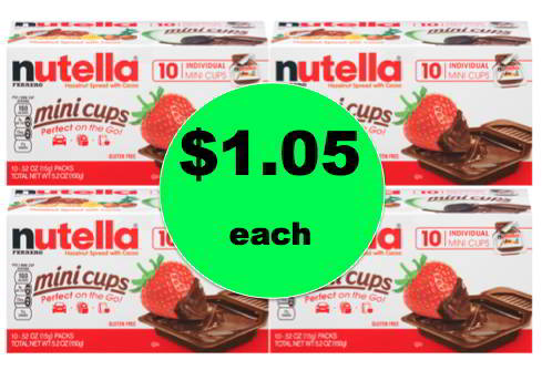 My Kids Love These! Pick Up $1.05 Nutella Mini Cups at Target! Happening Right Now!