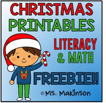 FREE Christmas Printable Literacy & Math!