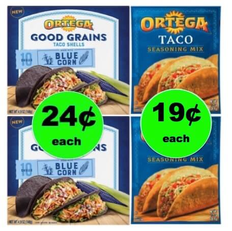 Make It a Taco Night with Ortega Blue Taco Shells & Seasoning Mix As Low As 19¢ Each at Target! NOW!