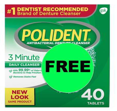 Got Dentures? Get FREE Polident 3 Minute Denture Cleanser at Walmart! ~Going On Now!