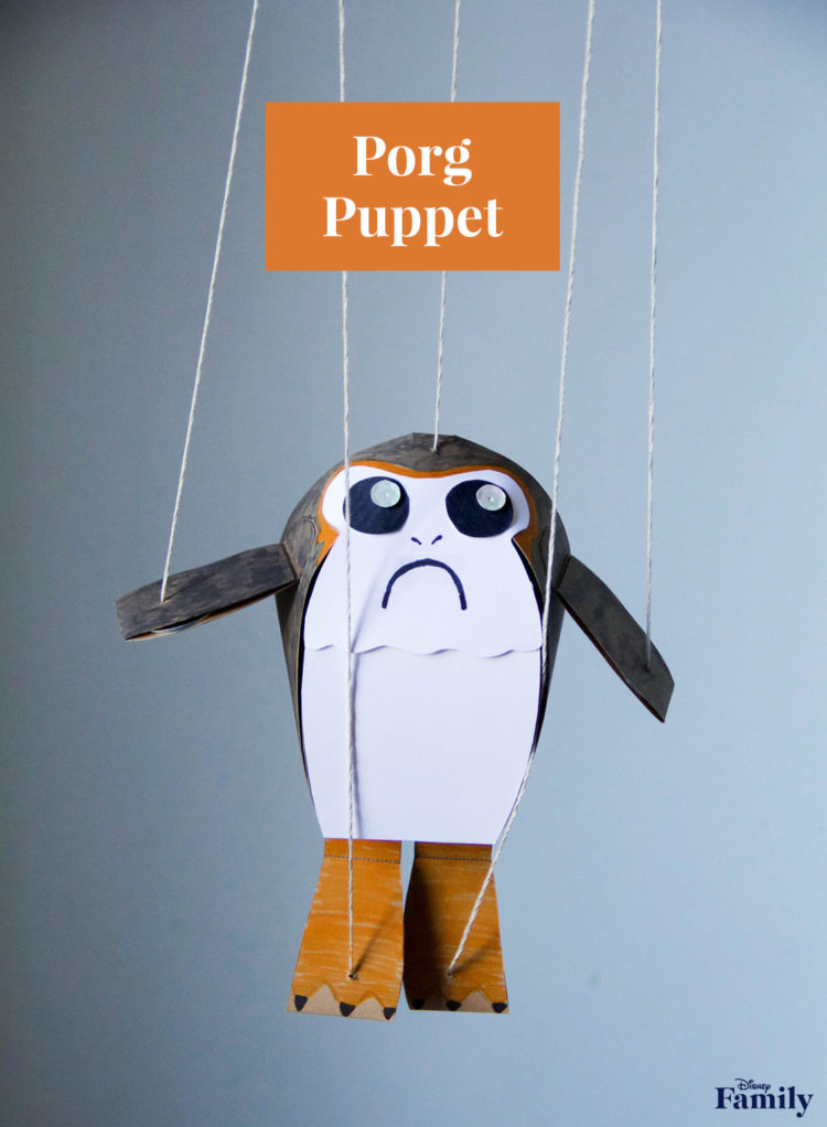 FREE DIY Porgs Puppet Craft!