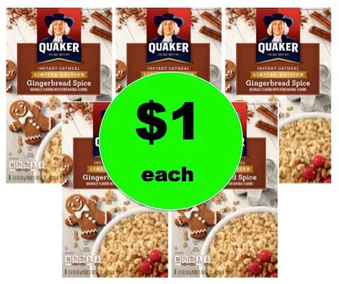 Quick & Easy Breakfast with $1 Quaker Gingerbread Spice Instant Oatmeal at Walmart! Now!