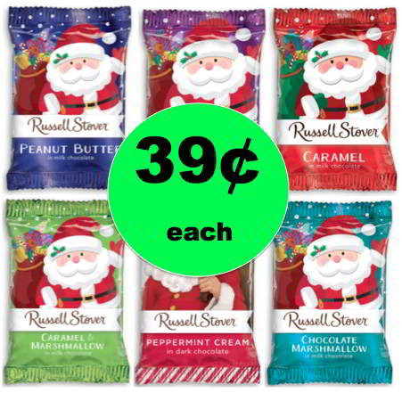Stocking Stuffer Alert! Pick Up Russell Stover Holiday Candies Only 39¢ Each at Walgreens! Starts Sunday!