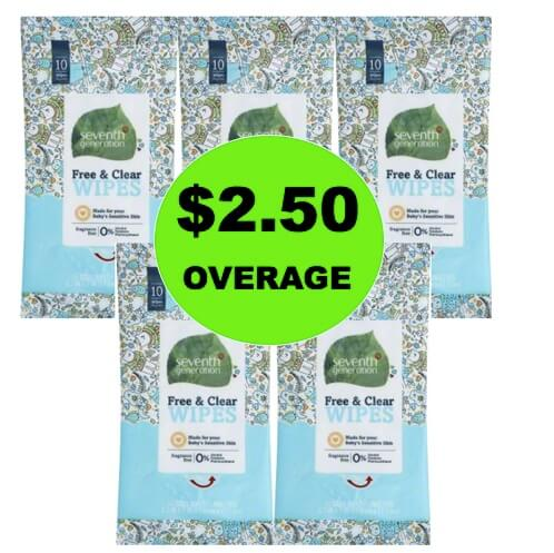 (Update: NLA) FIVE (5!) FREE + $2.50 OVERAGE on Seventh Generation Baby Wipes at Target! (Ends 12/31)