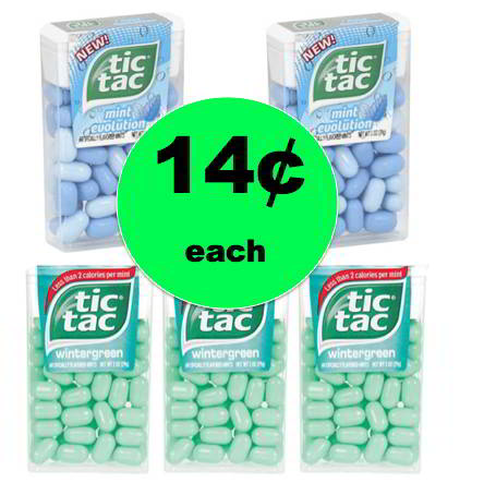 Stocking Stuffer Alert! Get 14¢ Tic Tac Mints at Walmart! ~Right Now!