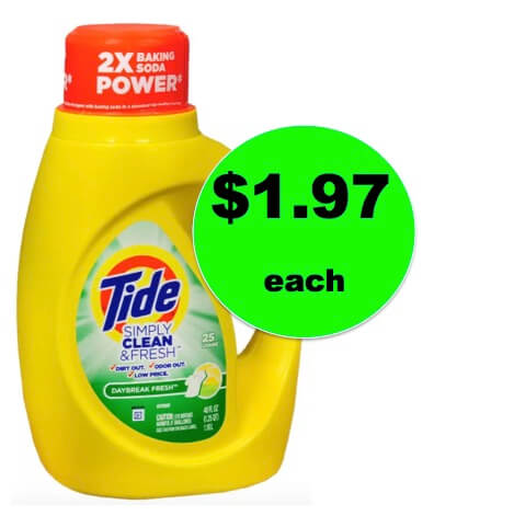 Get Tide Simply Clean Laundry Detergent ONLY $1.97 Each at Walgreens! Right Now!