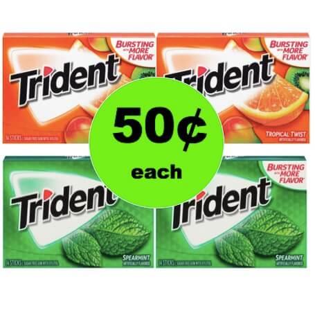 Restock Your Gum Stash with 50¢ Trident Gum Single Packs at Target! (Ends 1/6)