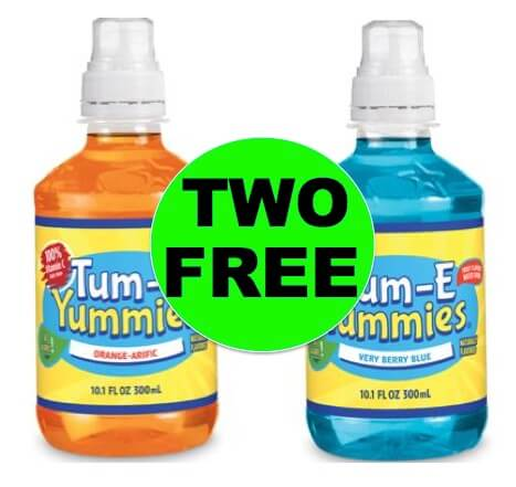 TWO (2!) FREE Tum-E Yummies Fruit Flavored Drinks at Walmart! Right Now!