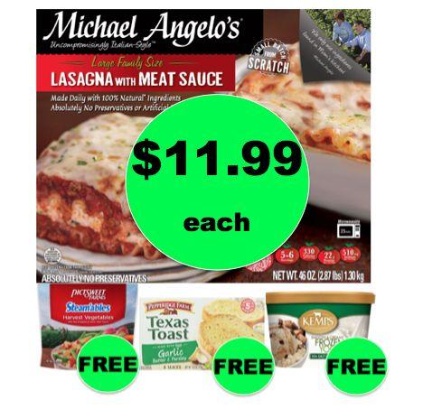 Winn Dixie Meal Deal: Buy ONE (1!) Michael Angelo's Lasagna for $11.99, Get Veggies, Bread, & Frozen Yogurt FREE! (12/6 – 12/12)