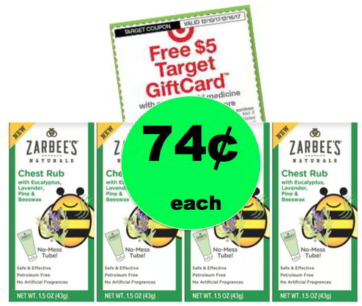 (NLA) Don't Miss 74¢ Children's Zarbee's Chest Rub {Reg. $6} at Target! Ends Tomorrow!