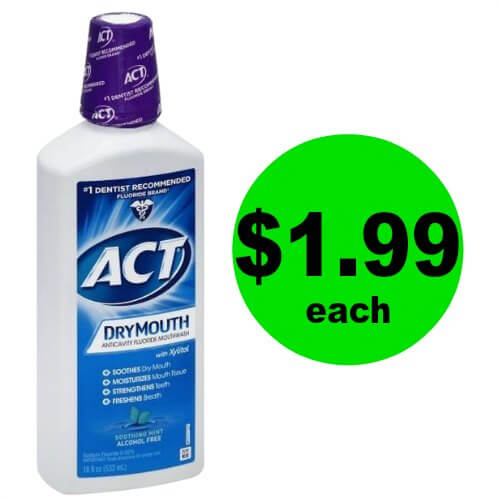 Get Minty Fresh with Act Dry Mouth Mouthwash for $1.99 Each (Reg. $6) at Publix! (Ends 1/2 or 1/3)