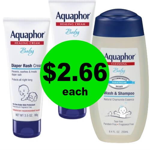 Keep Your Baby Happy with $2.66 Aquaphor Baby Wash & Diaper Cream at CVS (Reg. $8)! (1/14 – 1/20)