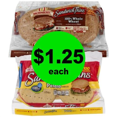 Enjoy a Sandwich with $1.25 Arnold Sandwich Thins Rolls at Publix! (Ends 1/23 or 1/24)
