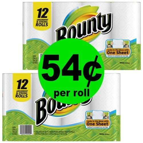 Clean Up with Bounty Paper Towels at 54¢ Per Roll at CVS! (Ends 1/20)