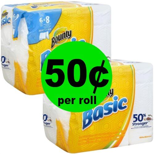 Don't Miss Your Bounty Basic Paper Towels for $.50 Per Roll at Publix! (Ends 1/27)