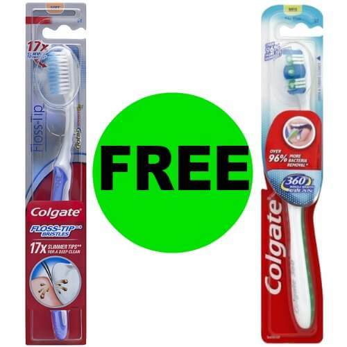 FREE Colgate 360 or Floss-Tip Manual Toothbrush at CVS! (1/7 – 1/13)