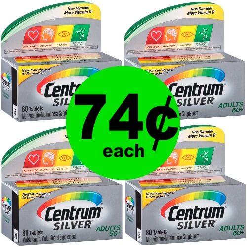 NOW Even Cheaper! 74¢ Centrum Silver Vitamins at Publix! (Ends 1/13)
