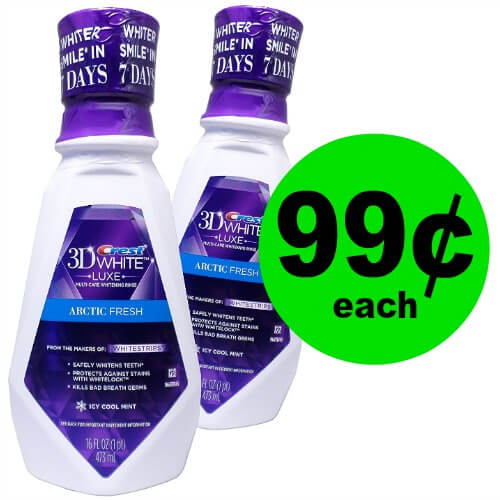 Freshen Up with 99¢ Scope, Crest Pro-Health or 3D White Mouthwashes at CVS! (Ends 1/6)