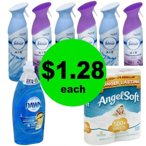 For Just $10.25 Total, Get (1) Dawn, (1) Angel Soft & (6) Febreze Products at Publix! (Ends 1/2 or 1/3)