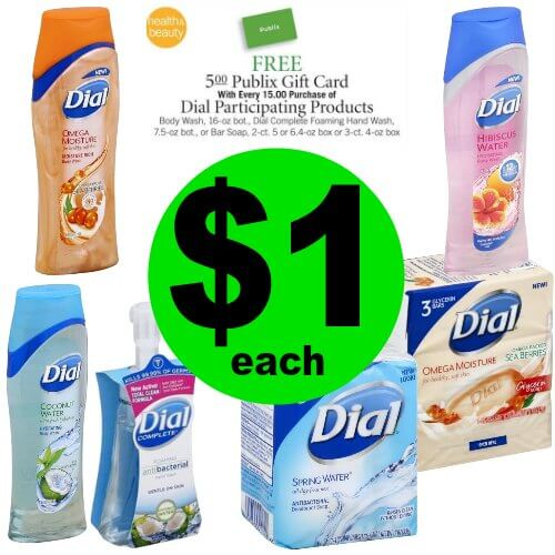 Time to Stock Up on Soap! Grab $1 Dial Body Wash, Bar Soaps or Hand Wash at Publix! (1/25-1/31 or 1/24-1/30)