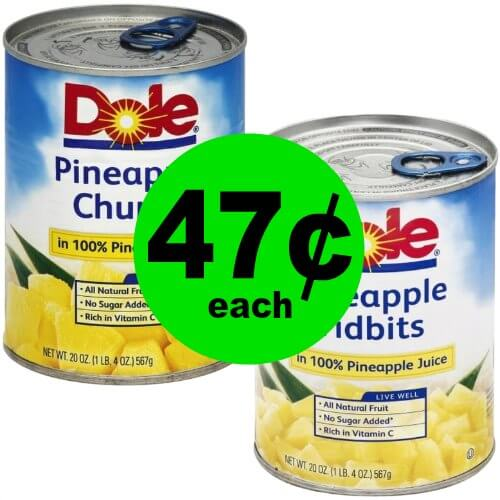 Enjoy Your Fruit with Dole Pineapples at Just 47¢ Each at Publix! (1/25-1/31 or 1/24-1/30)