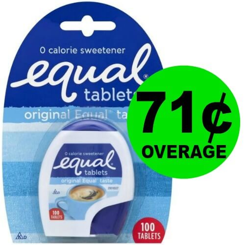 Pick Up FREE + 71¢ OVERAGE on Equal Sweetener Tablets at Publix!