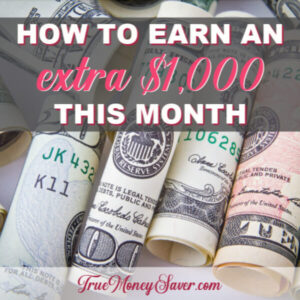 How To Make 1000 Dollars Fast This Month To Pay Off Debt