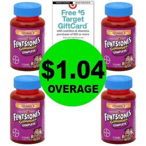 Going on NOW! FOUR (4!) FREE + $1.04 OVERAGE On Flintstones Vitamins at Publix! (Ends 1/13)