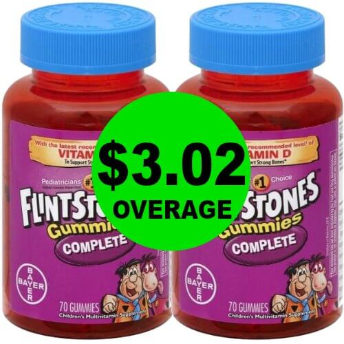 Holy Stock Up!! Grab TWO (2!) FREE Flintstones Vitamins + $3.02 OVERAGE at Publix! (1/11-1/17 or 1/10-1/16)