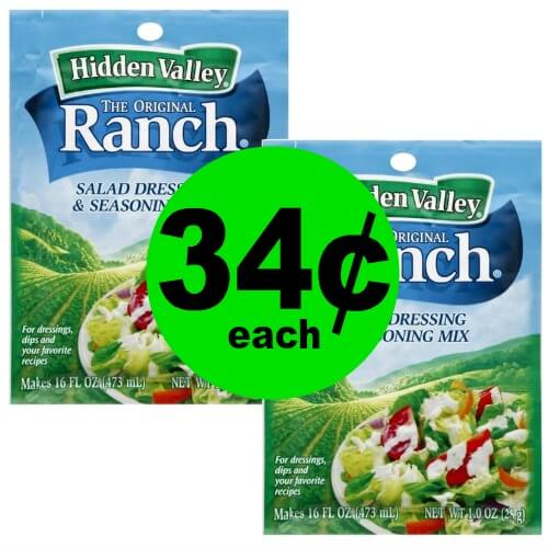 Get Your Dip On for 34¢ Hidden Valley Dressing or Dip Mix at Publix! (Ends 1/14)