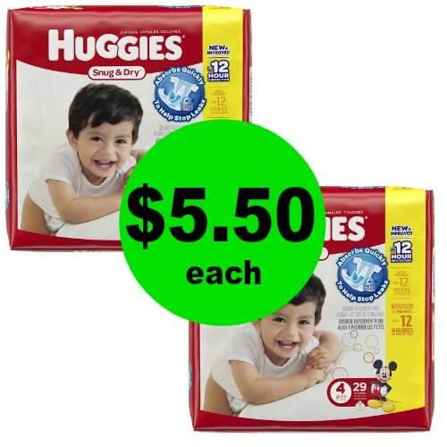 Hey Mama! Grab $5.50 Huggies Jumbo Diapers at CVS! (1/21 – 1/27)