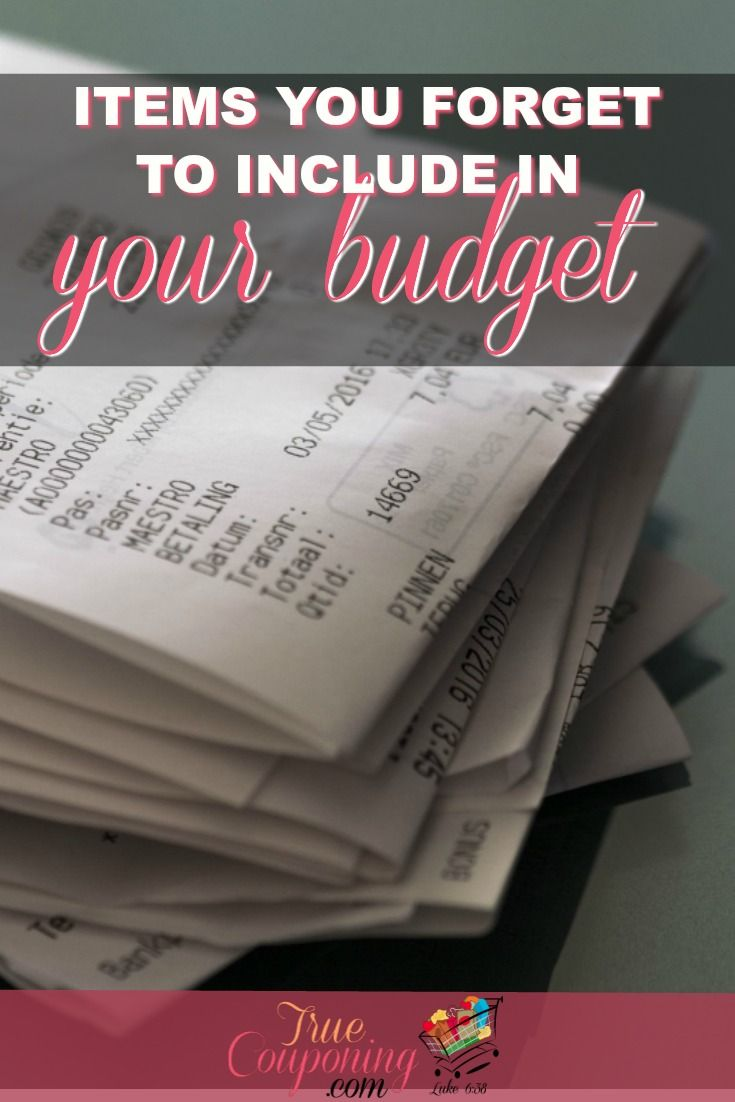 Making a budget can be stressful especially if you forget something. Don't forget these items when making your new budget! #truecouponing #budget #budget #savings #debtfree