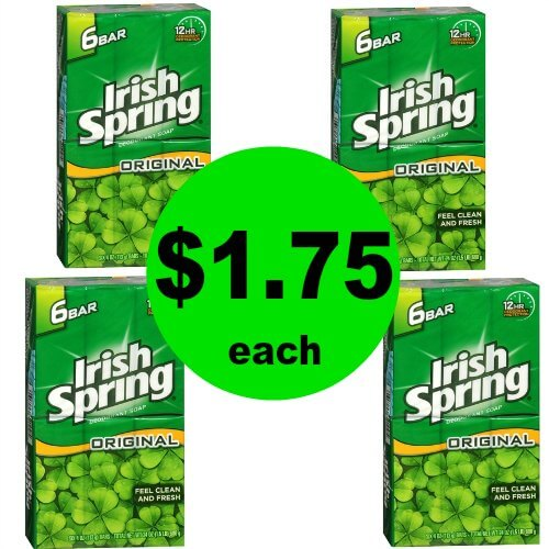 Get Fresh with Irish Spring Bar Soap 6 Packs for $1.75 Each at CVS! (Ends 1/27)