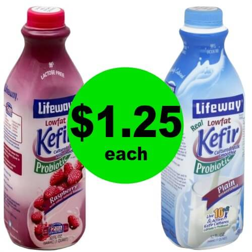 Trim Healthy Mamas! Grab Lifeway Kefir Cultured Milk Smoothies or Milk for $1.25 Each at Publix! (Ends 1/30 or 1/31)
