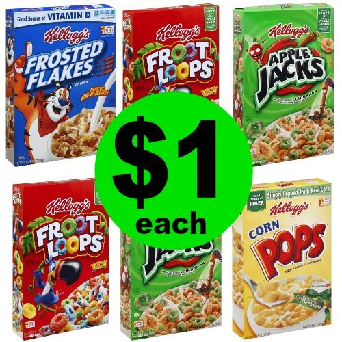 It's a GREAT Cereal Deal! Grab $1 Kellogg's Frosted Flakes, Froot Loops, Apple Jacks or Corn Pops Cereal at Publix! (Ends 1/9 or 1/10)