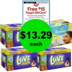 For Just $53.15, Get (3) Luvs Box Diapers & (1) Pampers Box Diapers at Publix! (1/3-1/6 or 1/4-1/6)
