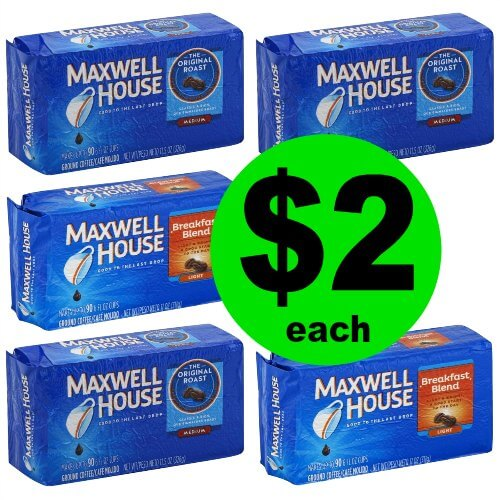Wake up Your Morning with $2 Maxwell House Coffee at Publix! (1/6 – 1/10)
