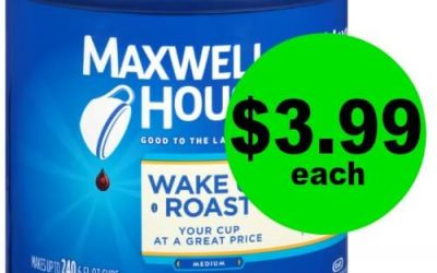 Wake Up with Maxwell House Wake Up Roast Coffee Cans for $3.99 Each (Reg. $10+) at CVS! (Ends 1/24)