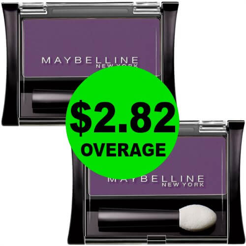 Grab (2) FREE Maybelline Eye Shadows + $2.82 OVERAGE at CVS! (Ends 1/20)