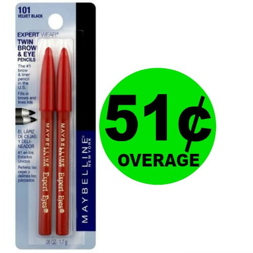 FREE + $.51 OVERAGE on Maybelline Eye & Brow Liners at Publix! (Ends 3/23)