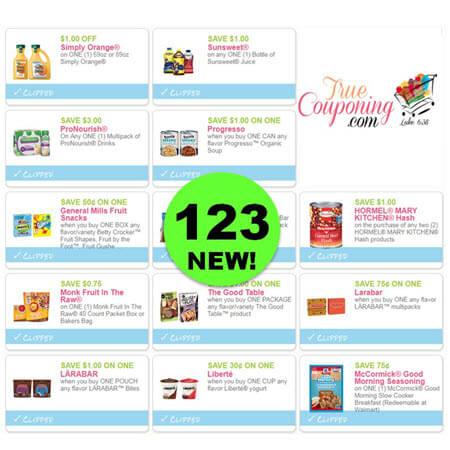 HURRY and PRINT the One Hundred Twenty-Three (123!) Coupons That Came Out Today!
