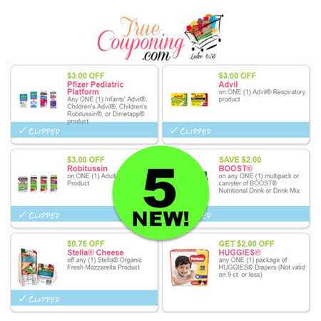 PRINT The FIVE (5!) NEW Coupons for Robitussin, Boost, Advil & More!