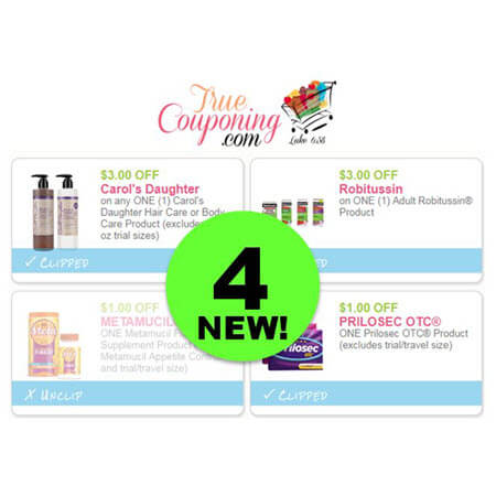 PRINT the FOUR (4!) NEW Coupons for Carol's Daughter, Robitussin, Metamucil & Prilosec!