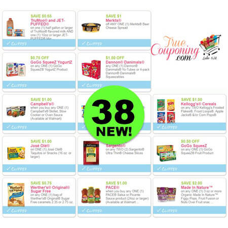 There's Thirty-Eight (38!) NEW Coupons To Print Today! Save on Dairy, Cereal, Snacks & More!