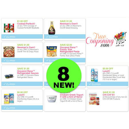 PRINT The NEW Eight (8!) Coupons or Newman's Own, Lysol, Cooked Perfect & More!