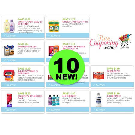 There's TEN (10!) NEW Coupons To Print Today! Save On Tylenol, Johnson's Baby, Listerine & More!